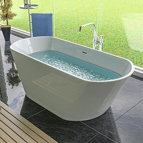Freistehende Badewanne 1700 x 740 x 580 - Standbadewanne - Acryl weiß - Badezimmer - Design Badewanne