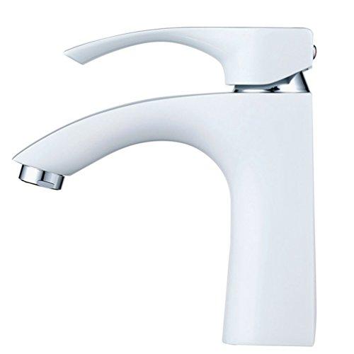 Hiendure® Messing Wasserhahn Bad Luxuriöse Waschtisch Armaturen Bad Heiß-kalt Konvertierungen Weiße & Chrom