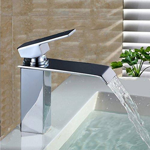 homelody chrom wasserfall wasserhahn bad waschbeckenarmatur waschtischarmatur einhebelmischer. Black Bedroom Furniture Sets. Home Design Ideas