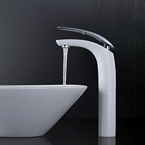 Homelody Elegant Wasserhahn bad Waschtischarmatur hoch Waschbeckenarmatur einhebel badarmatur Einhebelmischer Waschtisch Armatur Waschbecken Mischbatterie für Badezimmer