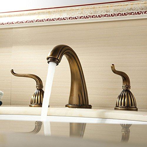 inchant antique brass bath schiff sinkt verbreitet bassintoilette mischbatterien zwei griff. Black Bedroom Furniture Sets. Home Design Ideas
