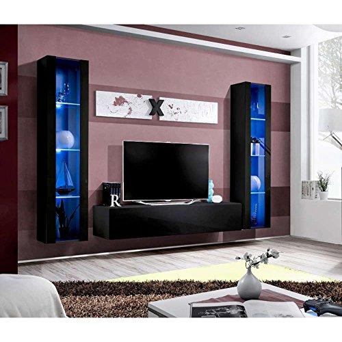 JUSThome AUR A II Wohnwand Anbauwand Schrankwand (HxBxT): 190x260x40 cm große Farbauswahl