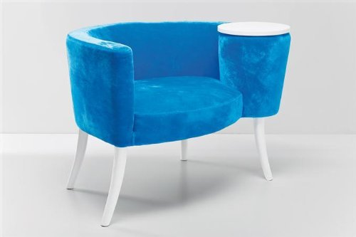KARE Design Philoma Light Blue - Clubsessel - Samt blau