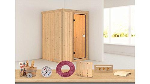 KONIFERA Sauna »Linda«, 135/135/198cm, 68mm,9-KW-Ofen int. Steuerung 9-KW-Ofen mit integrierter Steuerung