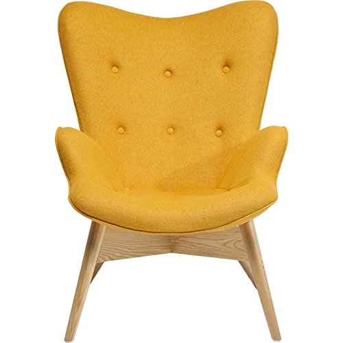 Kare 79717 Sessel, Holz, gelb, 81 x 73 x 94 cm