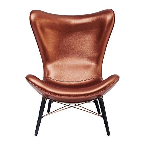 Kare Design–Sessel geneigt hoher Rückenlehne Kupfer Venice Beach