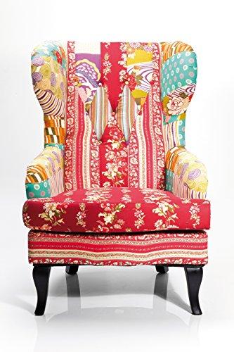 Kare Ohrensessel Patchwork Textil bunt
