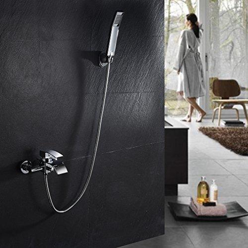 kinse elegant zeitgen ssische armatur wasserfall badewanne wasserhahn inkl wandhalterung mit. Black Bedroom Furniture Sets. Home Design Ideas