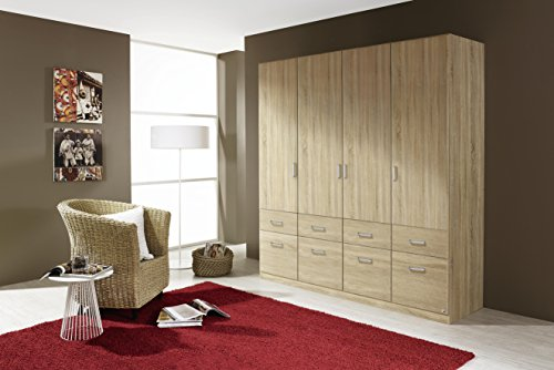 kleiderschrank stauraumschrank schrank 4trg 8 schubladen. Black Bedroom Furniture Sets. Home Design Ideas