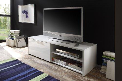 LC spa 209025-01 TV Schrank Sorrento, 122 x 38 x 42 cm,  weiß / hochglanz