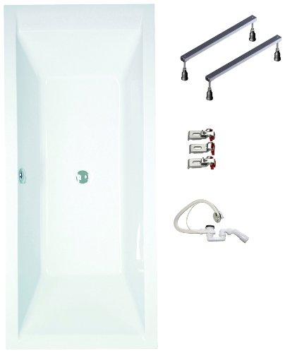 mybath bwset120rf badewannen komplett set inklusiv acryl rechteck fu gestell und ber. Black Bedroom Furniture Sets. Home Design Ideas