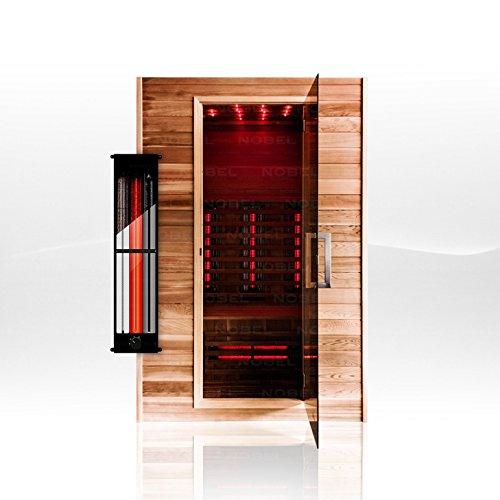 Neu! Nobel Infrarotkabine 130 Red Ceder Holz mit Triflexstrahlern