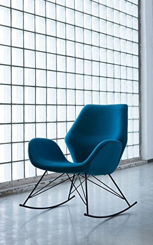 Schaukelstuhl Florida Turquoise stoff B76xT80xH87 by Kare Design