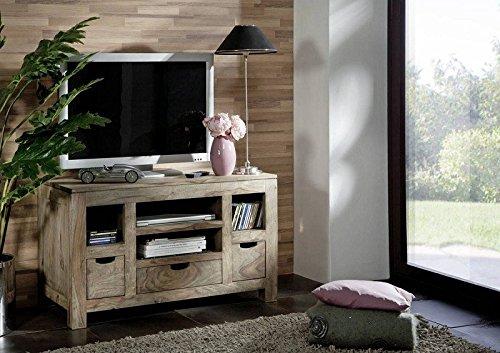 Sheesham Massivholz Lowboard Palisander Möbel Holz massiv Nature Grey #46