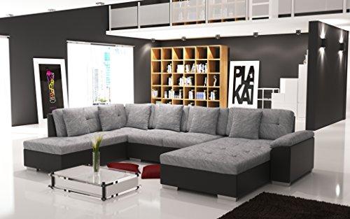 Sofa Couchgarnitur Couch Sofagarnitur ALMA 6 U Polstergarnitur Polsterecke Wohnlandschaft