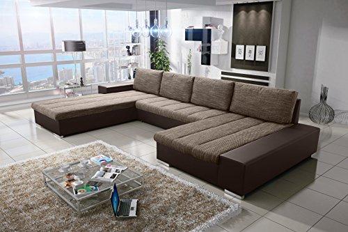 Sofa Couchgarnitur Couch Sofagarnitur VERONA 8 U Polstergarnitur Polsterecke Wohnlandschaft mit Schlaffunktion