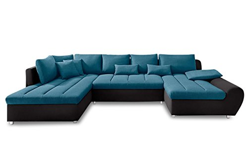Sofa Couch Sit&More Wohnlandschaft Bandos XXL - Blau