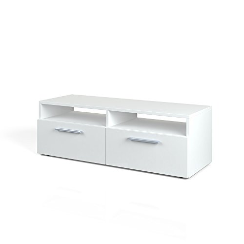 TV Lowboard Board Schrank Fernsehtisch Sideboard Regal Rack Weiß hochglanz …