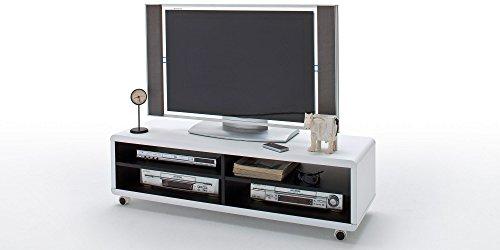TV Lowboard JEFF XL Tisch Möbel Media Element Anrichte Weiss Dekor Schwarz