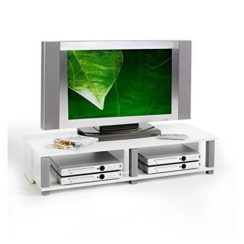 TV-Möbel Lowboard Fernsehtisch TV-Tisch TV-Element GERO, weiß foliert