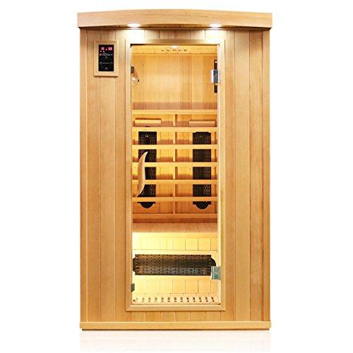 tronitechnik infrarotsauna 2 personen infrarotkabine sauna keramikstrahler karbon bodenstrahler. Black Bedroom Furniture Sets. Home Design Ideas