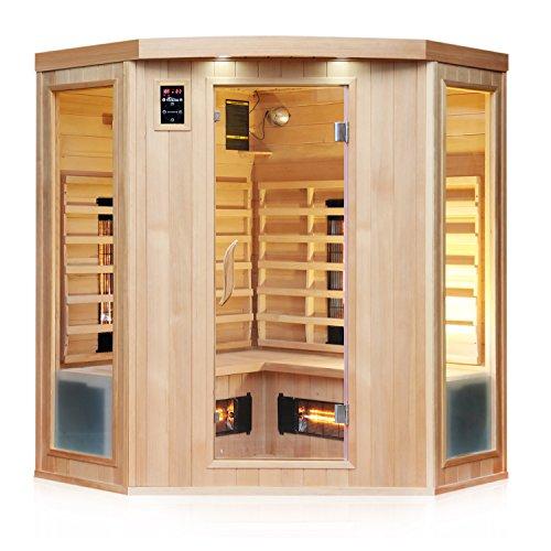 TroniTechnik Infrarotsauna 4 Personen Infrarotkabine Sauna Vollspektrumstrahler 150cm x 150cm x 190cm