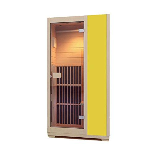 Zen 'Brighton' Far Infrarot Sauna - Einmann- Sauna aus kanadischer Hemlocktanne - in 7 Farben verfügbar