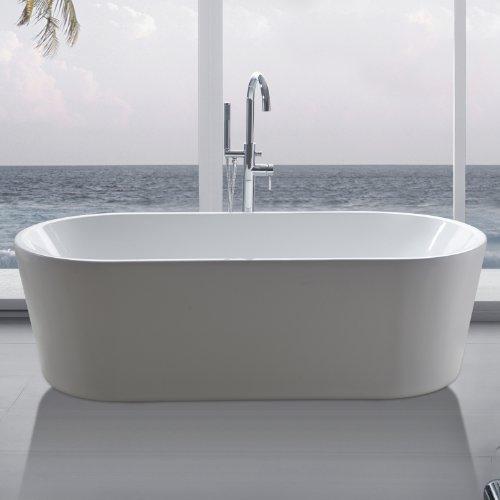 """perfect-spa Freistehende Badewanne """"Madrid"""" Wanne inkl. Ab- und Überlauf"""