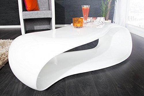 Dunord design couchtisch sofatisch gravity weiss 110cm for Lounge tisch design