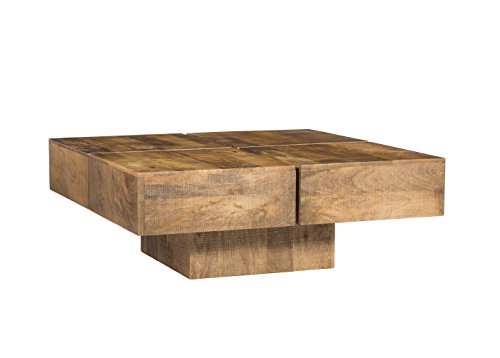 Woodkings couchtisch amberley 80x80cm holz mango natural for Design couchtisch nature lounge teakholz mit runder glasplatte beistelltisch