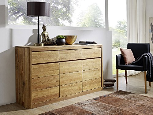 ASTORIA Sideboard Wildeiche massiv geölt