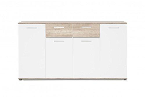 Kommode 'Berry 3' Sideboard Anrichte Schrank Schublade Dekorauswahl Weiß