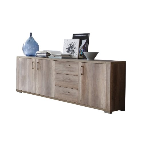 modernes 250cm sideboard wildeiche tr ffel. Black Bedroom Furniture Sets. Home Design Ideas