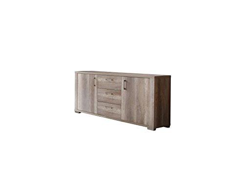 Sideboard MATTI 192x87x45, Farbe wildeiche trüffel