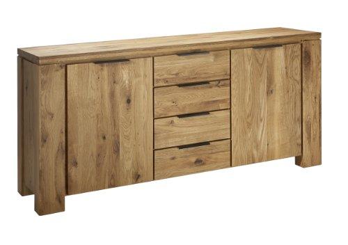 Sideboard Oviedo 2-türig/4Schubladen Wildeiche massiv 180 cm