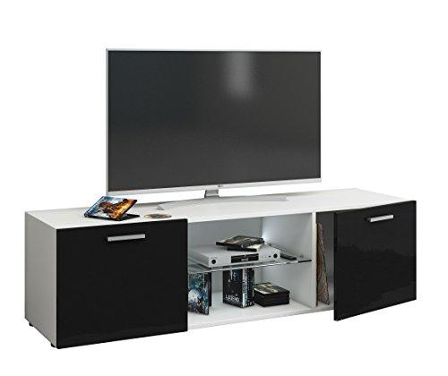 """VCM TV Lowboard Fernsehtisch Rack Phono Möbel Tisch Holz Sideboard Medienrack Fernsehbank """"Lowina Hochglanz""""  """