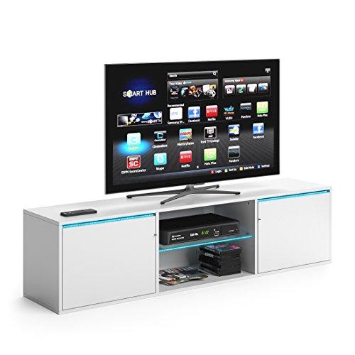 VICCO TV Lowboard PEGASUS 160cm Weiß - Fernsehtisch Sideboard Weiss Board Schrank Regal Fernsehschrank