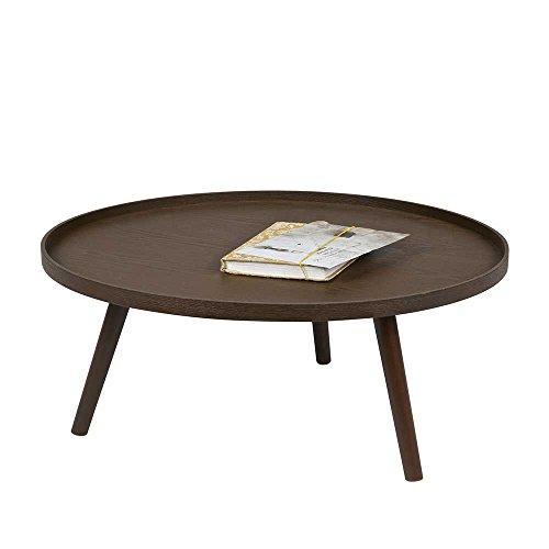 runder couchtisch in nussbaum furniert und lackiert pharao24 m bel24. Black Bedroom Furniture Sets. Home Design Ideas