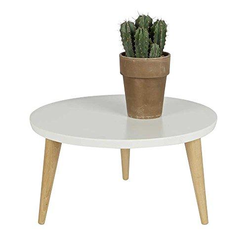runder couchtisch in wei kiefer eiche massiv pharao24 m bel24. Black Bedroom Furniture Sets. Home Design Ideas