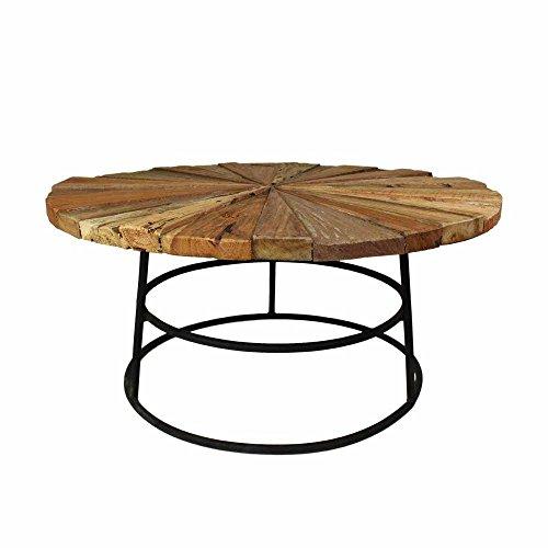 runder wohnzimmertisch aus teak recyclingholz eisen pharao24 m bel24. Black Bedroom Furniture Sets. Home Design Ideas