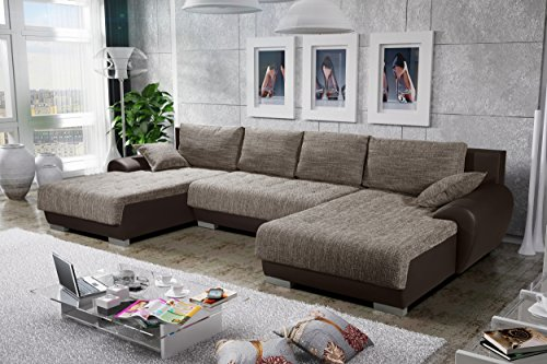 sofa couchgarnitur couch sofagarnitur leon 8 u polstergarnitur polsterecke wohnlandschaft mit. Black Bedroom Furniture Sets. Home Design Ideas