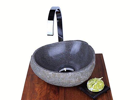 wohnfreuden 30 cm naturstein waschbecken steinwaschbecken rund innen poliert aussen natur g ste. Black Bedroom Furniture Sets. Home Design Ideas