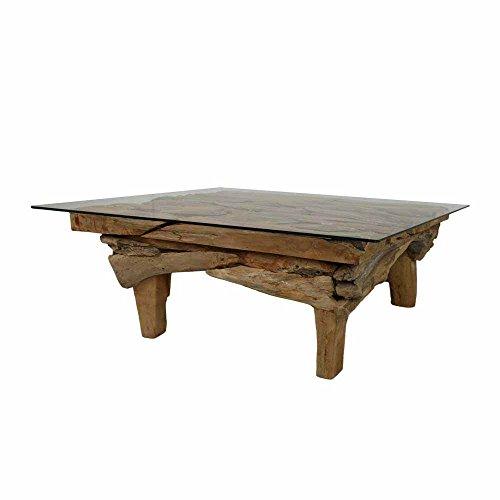 wurzelholz couchtisch aus teak massivholz glasplatte pharao24 m bel24. Black Bedroom Furniture Sets. Home Design Ideas