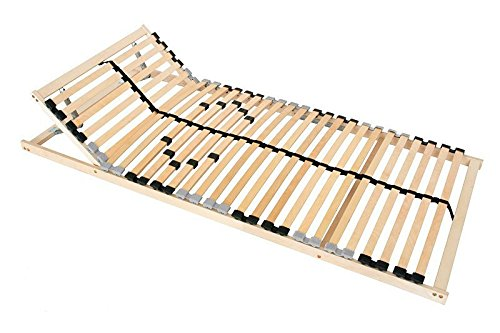 7-Zonen Lattenrost 100x200 Kopfteil Härtegrad verstellbar 28 Leisten Mittelgurt
