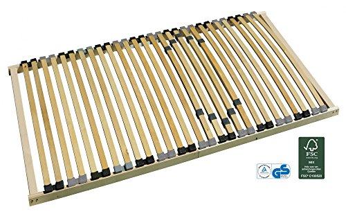 7-Zonen-Lattenrost starr 140x200 cm mit individueller Härtegradverstellung