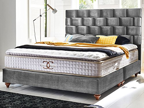 boxspringbett zrich hotelbett doppelbett matratze topper modern luxus bett 0 m bel24. Black Bedroom Furniture Sets. Home Design Ideas