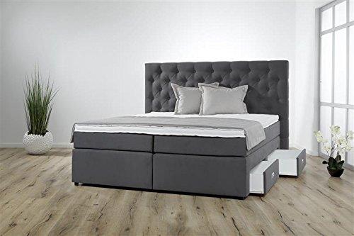 Breckle Boxspringbett 200 x 200 cm Lerche Box Miodormio TFK 1000 Formschaummatratze My Balance 20 Topper Gel Premium Comfort