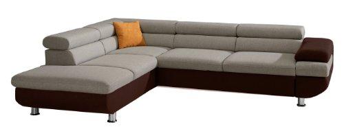 cavadore 5011 polsterecke caponelle ottomane mit bettkasten und kopfteilverstellung 3 er bett. Black Bedroom Furniture Sets. Home Design Ideas
