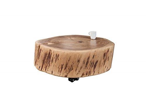 DuNord Design Couchtisch Baumstamm Baumscheibe Tisch ACACIA 60cm Akazie Massivholz Möbel