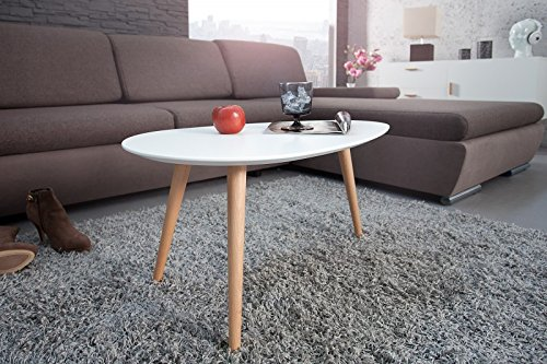 DuNord Design Couchtisch STOCKHOLM 75 cm weiss